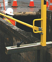 Trench Box Guardrail Receiver